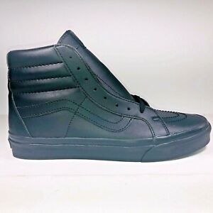 VANS SK8 Hi Classic Tumble Leather Black Monotone Shoes Mens Size 9 VN0A2XSBPXP