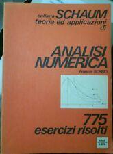 Scheid ANALISI NUMERICA collana Schaum ed. Etas 1993