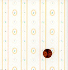 Dollhouse Wallpaper / 3 Sheets Cameo Stripe  Peach 143D23