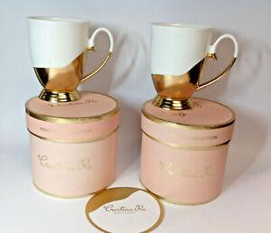 Cristina Re Artist's 24ct gold limited edition bone china high tea mugs/cups