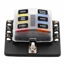 6 Way Blade Fuse Box Holder with LED Warning Light Kit for Car Boat Marine m