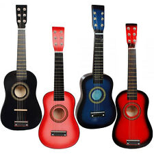 "23"" Hand Made Wooden Acoustic Guitar with Nylon Strings Musical Instrument Kids"