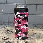 Yeti Slim Coozie UV Printed.  Will Not Chip Or Peel. Pink Digital camouflage