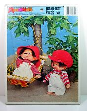 "1981 The Original MONCHHICHI Frame TRAY PUZZLE by Whitman Vintage 11"" x 8 1/4"""