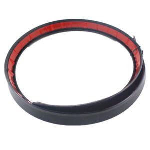 1.2M Black Car Trunk Spoiler Rear Wing Lip Roof Bonnet Trim Flexible PU Sticker