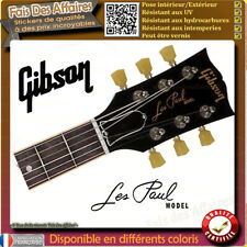 sticker autocollant GIBSON LES PAUL GUITARE GUITARE HEADSTOCK rock decal music