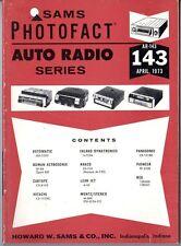 Sams Photofact-Auto Radio Manual/#AR-143/First Edition-First Print/1973