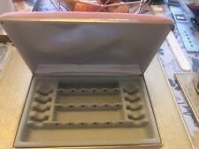Vintage Mele Peach Velvet Earring Case Storage Box