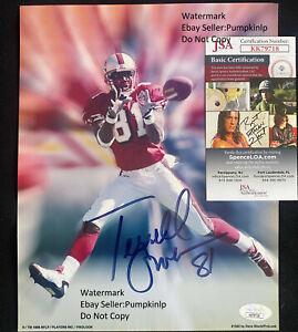 49ers Terrell Owens Signed 8X10 Photo JSA COA Hall Of Fame