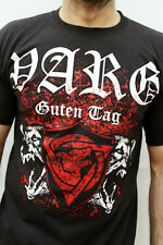 VARG Guten Tag 2012 NERO ROSSO T Shirt Viking Metal wolfszeit Germania Band M in buonissima condizione