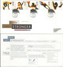 GB FDC 1996 OLYMPICS & PARALYMPICS