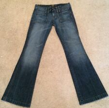 7 For All Mankind Trouser Wide Leg Flare Stretch Size 25 28x32