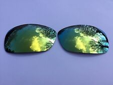 ENGRAVED POLARIZED 24k GOLD MIRRORED  REPLACEMENT OAKLEY HIJINX LENSES