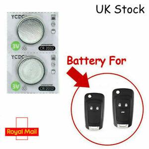 2 x Remote Key Fob Batteries VAUXHALL INSIGNIA ASTRA J CORSA D MERIVA CR2032