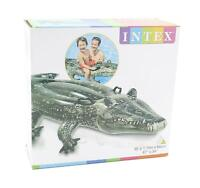 Intex Realistic Inflatable Gator Ride On Swimming Pool Float Toy