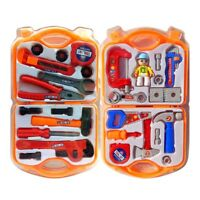 New Boys Kids Role Play Builder Toy Tool Set In Hard Carry Case With Drill UK~