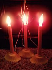 Lot Of 3 Vintage Single Flame Bulb Noma Electric Candolier All In Working Order