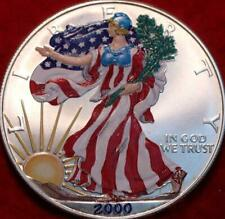 Uncirculated 2000 Colorized  American Eagle Silver Dollar