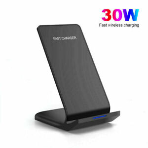 30W Qi Wireless Charger Fast Charging Stand Dock For Apple iPhone 11 12 Pro Max