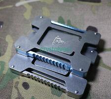 1PC Multifunctional EDC Card Holder Organiser Titanium Money Clip Wallet C AU