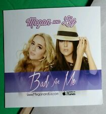 MEGAN AND LIZ BAD FOR ME ITUNES MUSIC STICKER