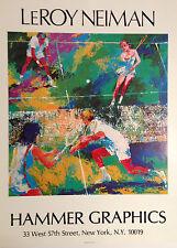 LEROY NEIMAN - Mixed Doubles - TENNIS ART PRINT Original 1977 Poster