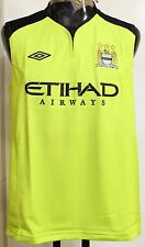 MANCHESTER CITY PLAYER ISSUE S/LESS TRAINING TOP BY UMBRO SIZE ADULTS XXL  NEW
