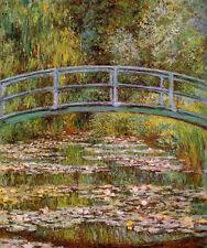 Dream-art Oil painting Claude Monet - The Water-Lily Pond (aka Japanese Bridge)