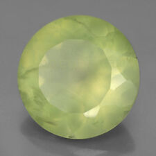 AAA Quality 15 Pieces Natural Prehnite 8x8 mm Round Faceted Loose Cut Gemstones