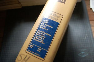 CAT Caterpillar 140H 160H Motor Grader Repair Shop Service Manual blade operator