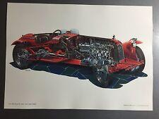1931 Alfa Romeo 8C 2300 Corto Spider Zagato Automobile Technical Illustration