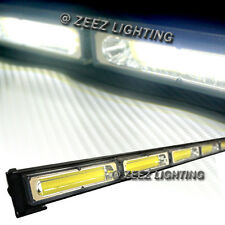 White 60W COB LED Traffic Advisor Emergency Strobe Beacon Warning Light Bar C94