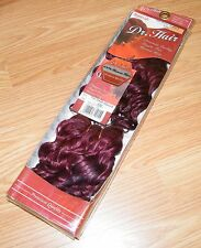 Dr. Hair - Yaki Deep Wave 8 (530) Purple Red Sew-in Weft Human Hair Extensions