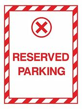 1x Reserved Parking Sticker