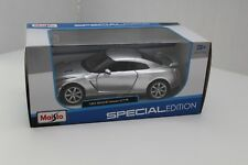 NEW Silver 2009 Nissan GT-R Die Cast Maisto Special Edition 1:24 Factory Sealed