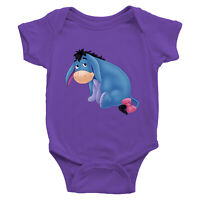 Eeyore Gloomy Donkey Infant Baby Boy Girl Rib Bodysuit Clothes baby shower Gift