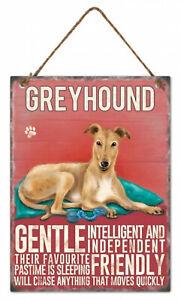 Greyhound Dog Hanging Metal Sign w rope hanger Approx 27cm H x 20cm W