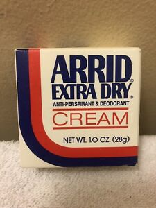 Arrid Extra Dry Anti-Perspirant & Deodorant Cream 1.0 Oz Discontinued Fresh