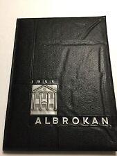 1955 A L Brown High School Yearbook Annual  Kannapolis North Carolina Albrokan