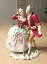 Vintage ROYAL DUX Bohemia Figurine Dancing Couple Signed Elly Strobach