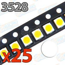 LED SMD 3528 20mA - Blanco Neutro - Lote 25 unidades - Arduino Electronica DIY