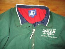 Vintage Starter NEW YORK JETS Season Ticket Club Embroidered (2XL) Jacket