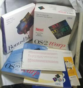 IBM OS/2 Warp Version 3 w/ BonusPak CD-ROM, Discs Are Sealed,