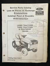 Ford New Holland Service Parts Catalog Lawn Amp Garden Tractors 198486 1908