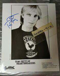 Tom Petty Signed The Heartbreakers Autograph COA 8x10