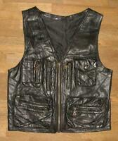 Cool Outdoor Leather Vest / Vest IN Black Approx. Size 42/44