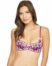 AGENT PROVOCATEUR KAITY BALCONY BRA NON PADDED BNWT £60 SIZE 32C CERISE PINK