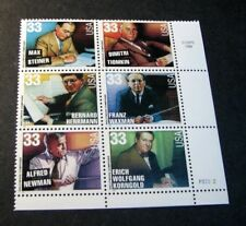 US Stamp Scott# 3344a Hollywood Composers 1999  MNH  Blk of 6  W/P#  BKL16