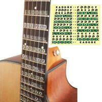 Guitar Scale Stickers For Electric Guitar Colorful Black Premium Stickers N7M3