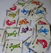 NEON MONKEY TATTOOS  LOT 0F 144 CARNIVALS, PARTIES TOYS FAVORS. VENDING
